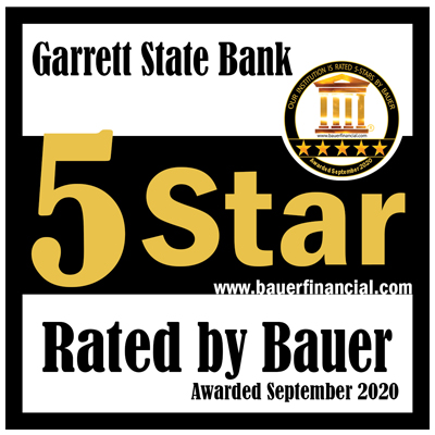 Garrett State Bank - Five Star Award